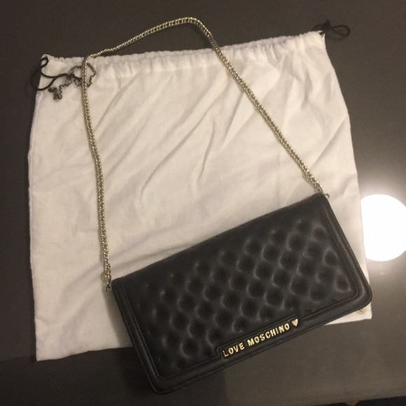 7ed3e9b0794 Love Moschino Bags | Nwot Black Wallet With Chain | Poshmark